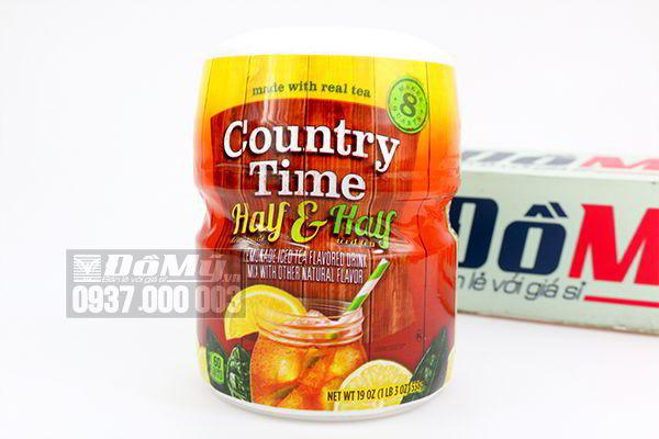 Bột Country Time Half & Half pha nước vị chanh và trà đá 538g của Mỹ