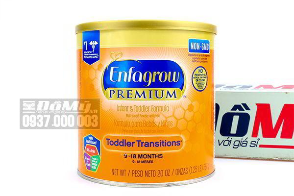 Sữa Enfagrow Premium Infant & Toddler Formula Non – GMO dành cho bé từ 9-18 tháng 567g của Mỹ