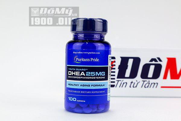 Viên uống tăng cường nội tiết tố nữ DHEA 25mg Puritan's Pride 100 viên của Mỹ