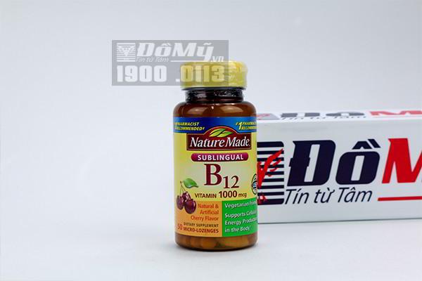 Viên uống bổ sung vitamin Nature Made Sublingual Vitamin B12 1000 mcg 50 viên