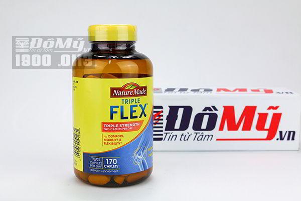 Hỗ trợ điều trị khớp - Triple Flex Nature Made của Mỹ hộp 170 viên