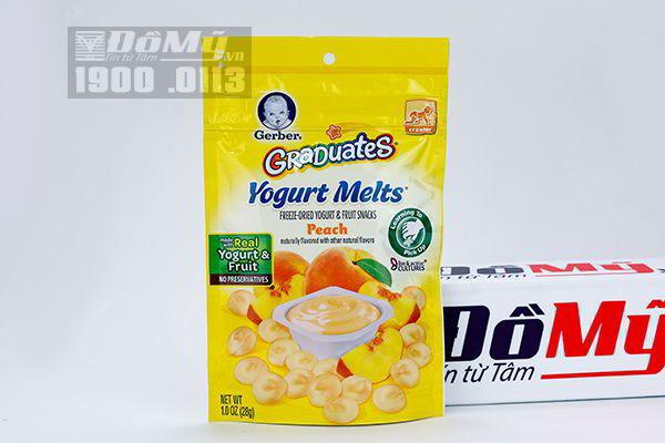 Bánh Sữa Chua Khô Yogurt Melts Gerber 3 của Mỹ 28g
