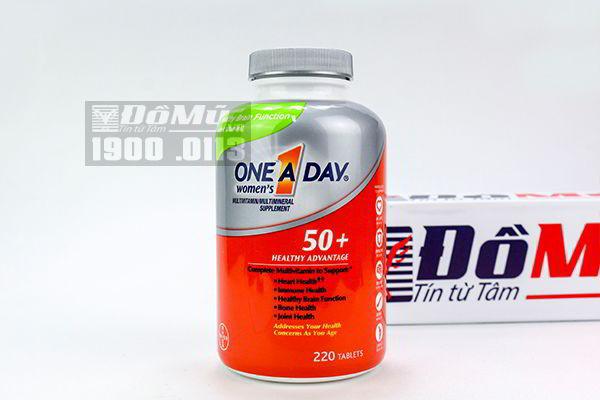 One A Day® Women's 50+ Advantage 220 viên, Vitamin hàng ngày cho phụ nữ