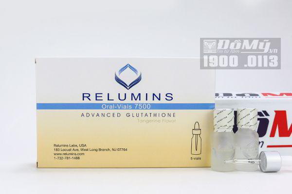 Bộ ngậm trắng da Relumin Oral Vials 7500 Advanced Glutathione
