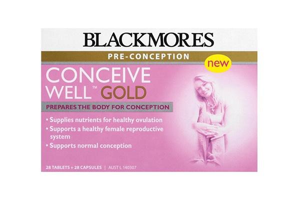 Viên uống tăng khả năng thụ thai Blackmores Conceive Well Gold 28 viên của Úc