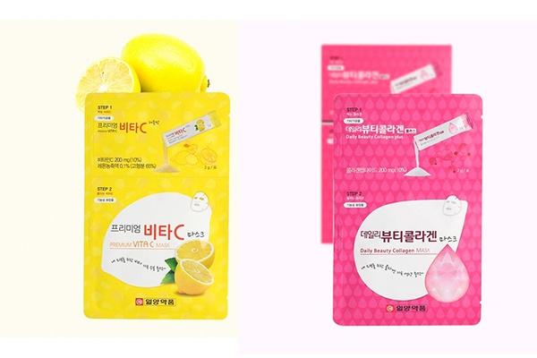 Mặt nạ đắp & uống ILYANG PHARM Daily Beauty Collagen Mask và Premium Vita C Mask