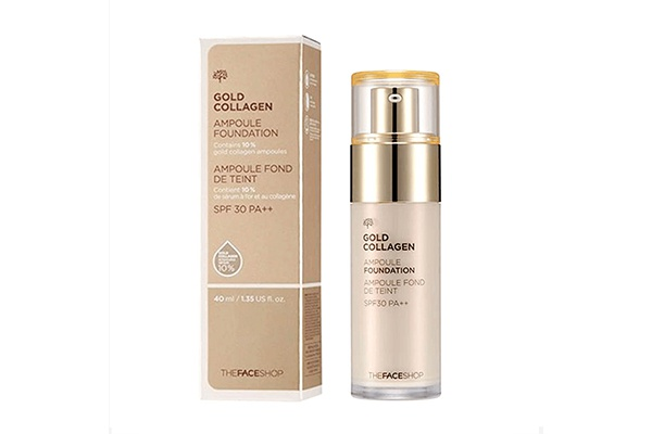 Kem lót dưỡng da The Face Shop Gold Collagen Ampoule