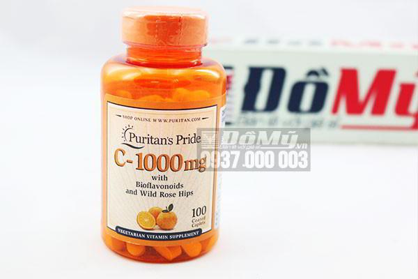 Vitamin C 1000mg puritan's pride hộp 100 viên - Vitamin C của Mỹ