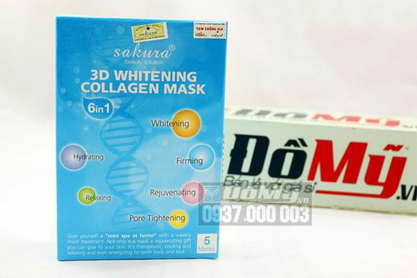 Mặt nạ làm trắng da tự nhiên Sakura 3D Whitening Collagen Mask