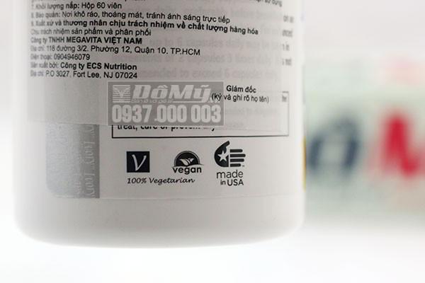 Viên uống giúp làm trắng da Glutathione Complex 1500mg Ivory Caps 60 viên của Mỹ