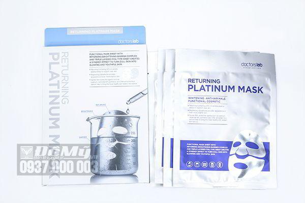 Mặt nạ dưỡng trắng Returning Platinum Mask Doctorslab của Hàn Quốc