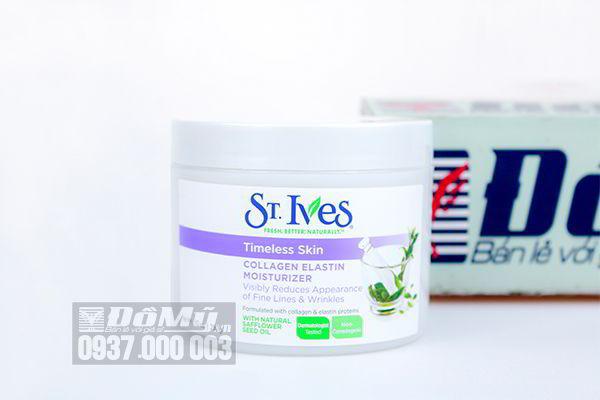 Kem dưỡng ẩm St. Ives Timeless Skin Collagen Elastin Moisturizer 283g của Mỹ