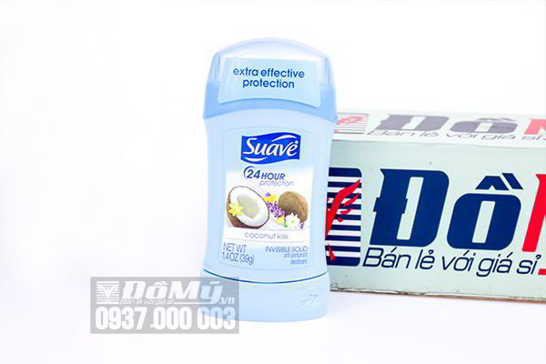 Sáp lăn khử mùi nữ Suave 24 Hour Protection Invisible Solid 39g của Mỹ