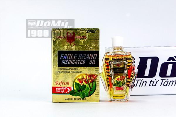 Dầu gió vàng Mỹ Eagle Brand Medicated Oil 24ml