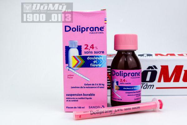 Siro hạ sốt Doliprane 2.4% (100ml)