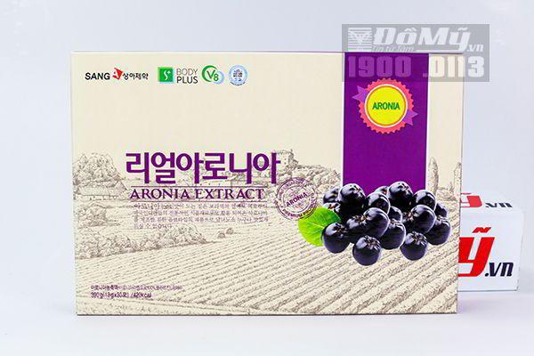 Nước ép aronia SangA đẹp da chống ung thư trị mụn Hàn Quốc