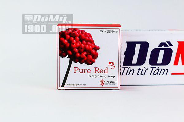 Xà bông hồng sâm Pure Red Hàn Quốc 100g