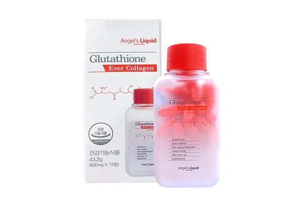 Viên uống trắng da Angel's Liquid Glutathione Ever Collagen 72 viên