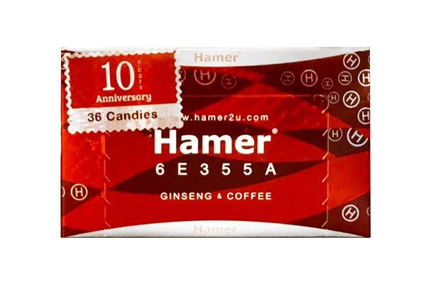 Kẹo sâm Hamer Ginseng Coffee Candy 36 viên Malaysia