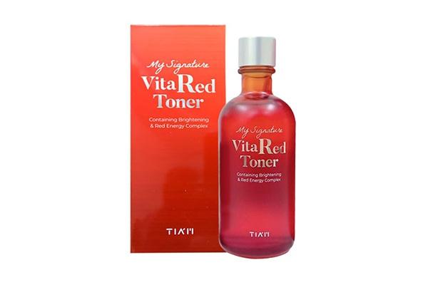 Nước Hoa Hồng Tiam My Signature Vita Red Toner 130ml của Hàn