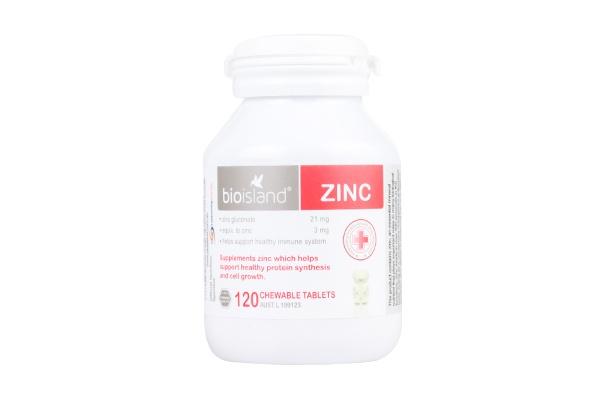 Viên nhai bổ sung kẽm Bio Island Zinc cho trẻ 120 viên của Úc