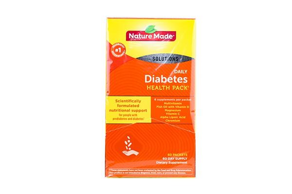 Vitamin cho người tiểu đường Diabetes Health Pack Nature Made 60 gói của Mỹ