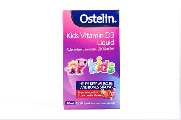 Vitamin D Ostelin dạng nước cho trẻ Ostelin Vitamin D Kids Liquid 20ml của Úc