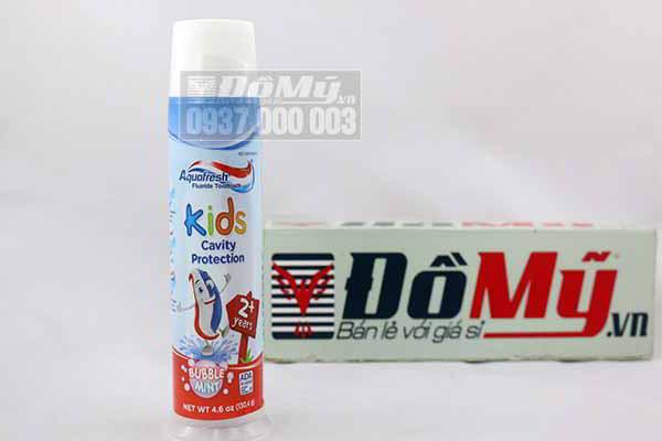 Kem đánh răng cho bé trên 2 tuổi Aquafresh Kids Cavity Protection 130,4g từ Mỹ