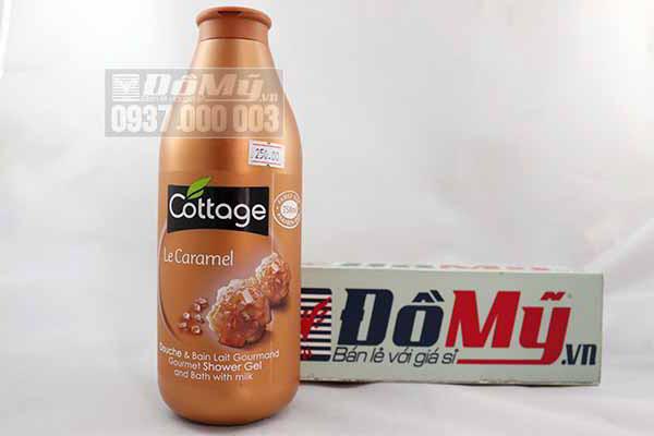 Sữa tắm dưỡng trắng da của Pháp Cottage Le Caramel loại 750ml