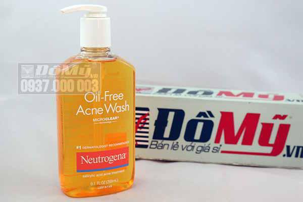 Rửa Mặt Trị Mụn Neutrogena Oil-Free Acne Wash 269ml từ Mỹ
