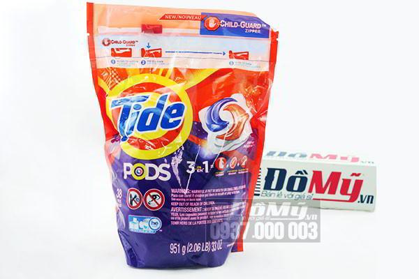Viên giặt bột giặt Tide Pods của Mỹ bịch 38 viên Spring Meadow 2016