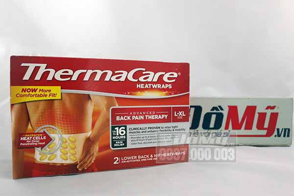 Miếng dán nhiệt giảm đau vùng thắt lưng ThermaCare HeatWraps Back & Hip của Mỹ