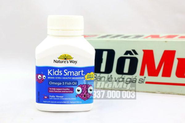 Viên uống Dầu Cá Nature's Way Kids Smart Omega 3 hộp 50 viên của Úc