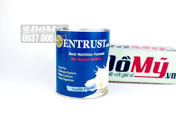 Sữa bột không đường Entrust No Sugar dành cho người bệnh tiểu đường 400g của Mỹ