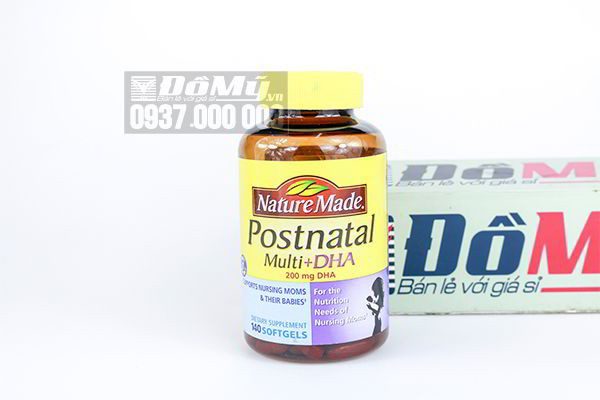 Vitamin dành cho phụ nữ cho con bú Postnatal Multi DHA 140 viên của Mỹ