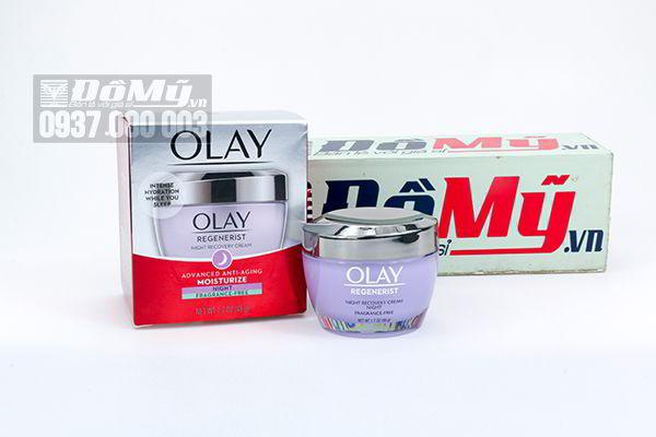 Kem dưỡng ban đêm Olay Regenerist Night Recovery Cream Advanced Anti-aging Moisturize Night 48g của Mỹ