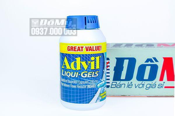 Viên uống giảm đau Advil Liqui Gels 200 viên