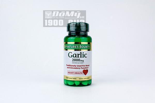 Viên tinh dầu tỏi nguyên chất, Nature's Bounty-Garlic-Heart Health-2000 mg (120viên)