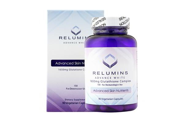 Viên uống trắng da Relumins Advance White 1650mg Glutathione Complex 90 viên của Mỹ