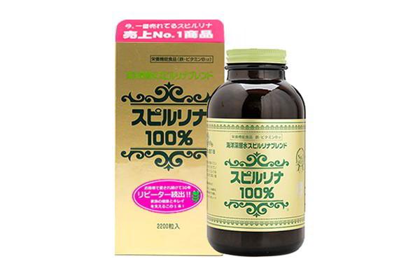 Viên uống tăng cường sức khỏe tảo xoắn Spirulina hộp 2200 viên của Nhật Bản