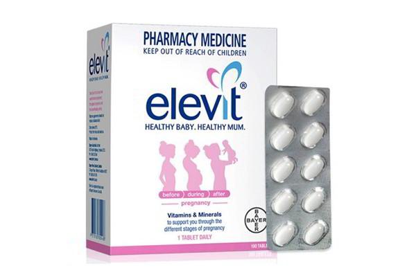 Viên uống Elevit dành cho bà bầu loại 100 viên của Úc (Bayer Australia)