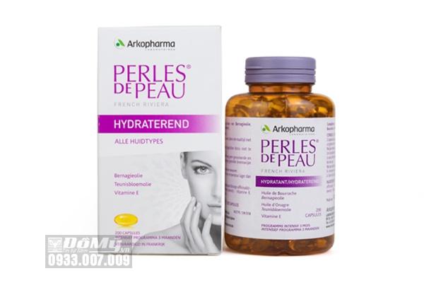 Viên uống đẹp da Collagen perles De Peau Hydratant 200 viên của Pháp