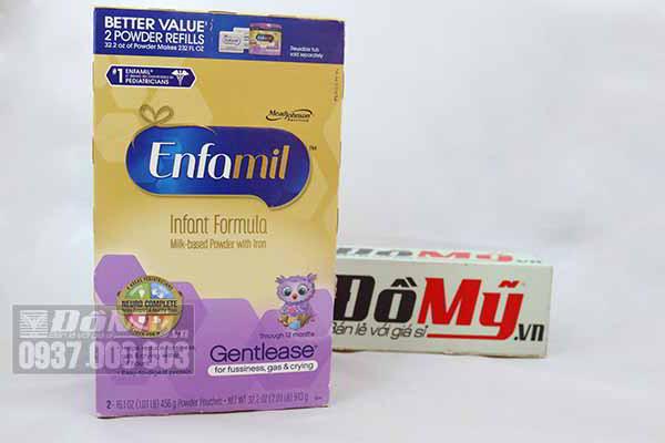 Sữa bột Enfamil Gentlease cho bé dưới 1 tuổi nhập từ Mỹ (Mẫu cũ)
