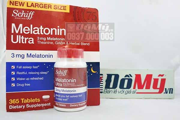 Viên uống trị mất ngủ Schiff Melatonin Ultra 3mg 365 viên của Mỹ