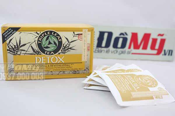 Trà giúp thanh lọc cơ thể, giảm cân Detox Triple Leaf Tea hộp 20 gói của Mỹ