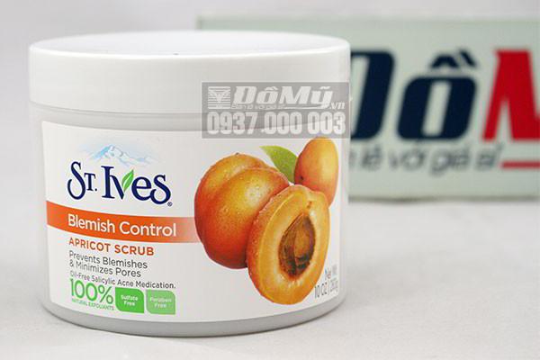 Kem tẩy da chết St Ives Blemish Control Apricot Scrub 283g của Mỹ