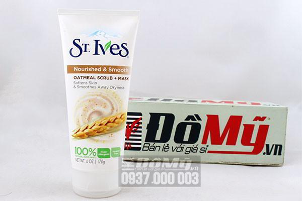 Sữa rửa mặt tẩy tế bào chết St Ives bột yến mạch 170g của Mỹ