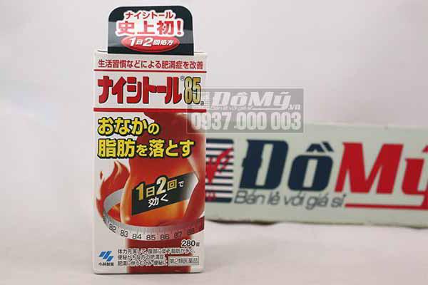 Viên uống giảm mỡ bụng hiệu quả Naishitoru 85 Kobayashi 280 viên của Nhật