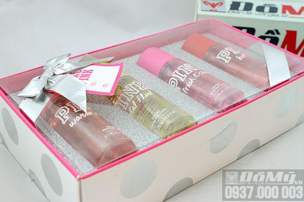 Bộ sản phẩm xịt thơm cơ thể Victoria's Secret Pink Body Mist của Mỹ