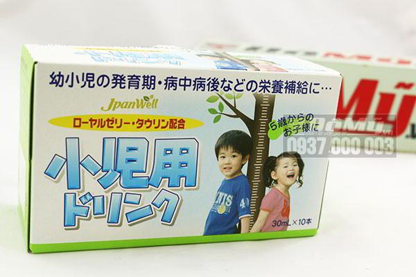 Nước uống bổ sung vitamin tăng chiều cao cho trẻ JpanWell TopLoan hộp 10 chai của Nhật Bản